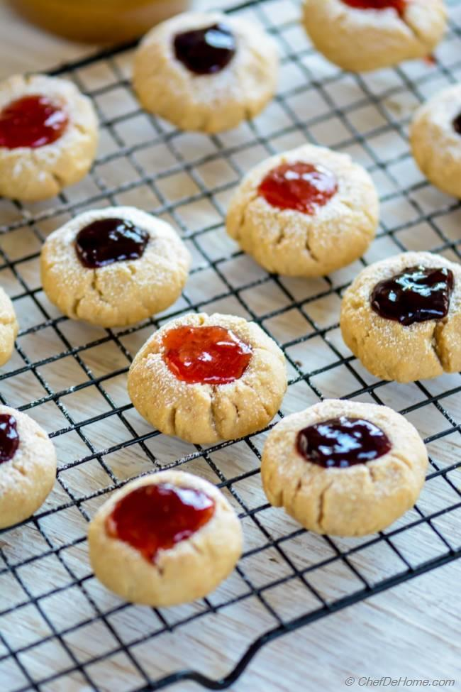 recipe: peanut butter thumbprint cookies [21]