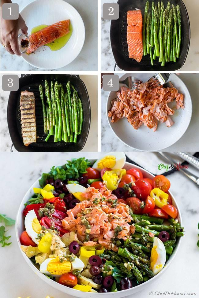 How to Grill Salmon and Asparagus for Grilled Salmon Salad