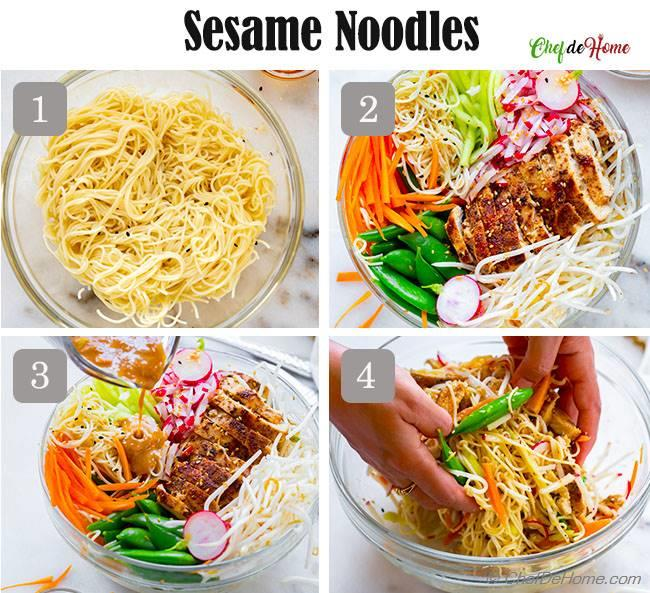 how to make sesame noodles with chicken