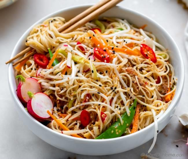 Takeout style Sesame Noodles Recipe