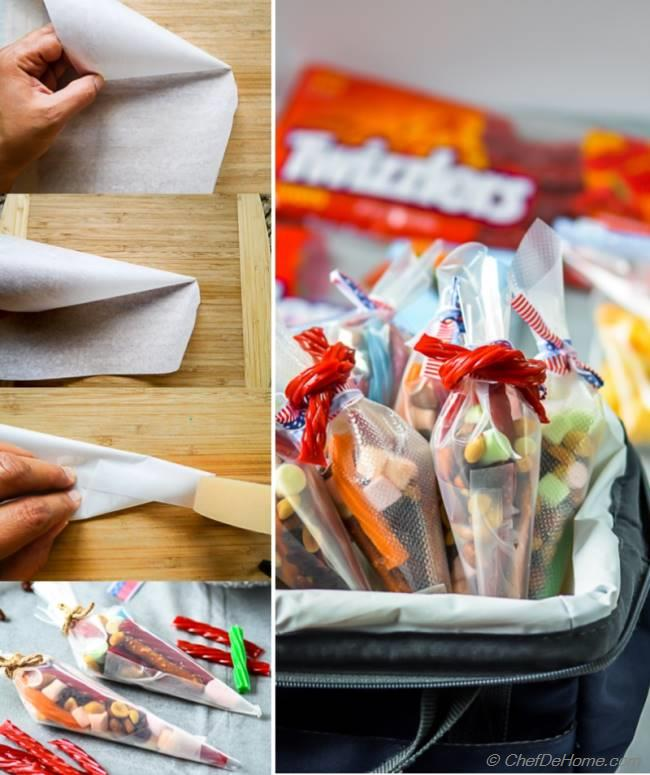 How to make Paper Cones for Road Trip Snacking | chefdehome.com
