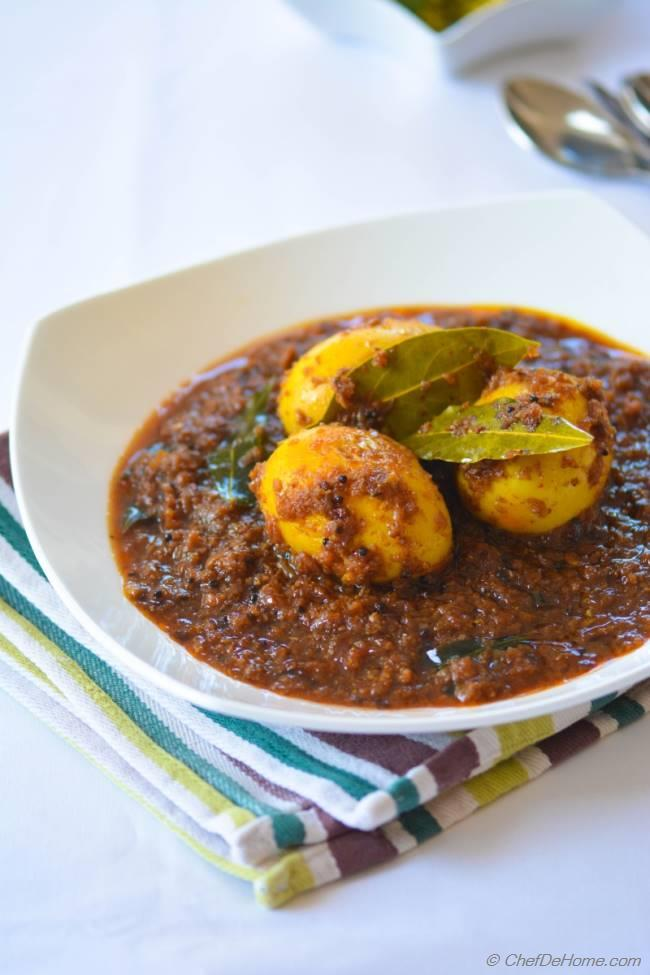 Andhra style spicy egg curry recipe chefdehome forumfinder Choice Image