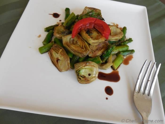 Sauteed Baby Artichokes Salad with Balsamic Vinaigrette Recipe ...
