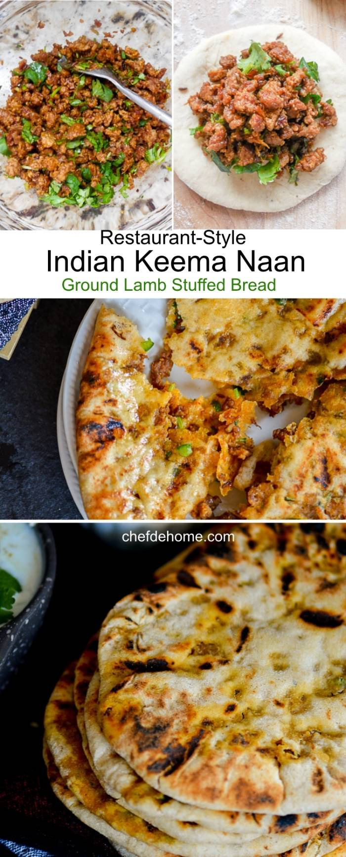 Indian Restaurant-Style Traditional Keema Naan - Savory and Coated in Butter for Extra Oomph | chefdehome.com