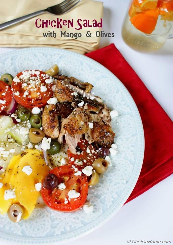 Greek Style Chicken Salad with Thyme Vinaigrette