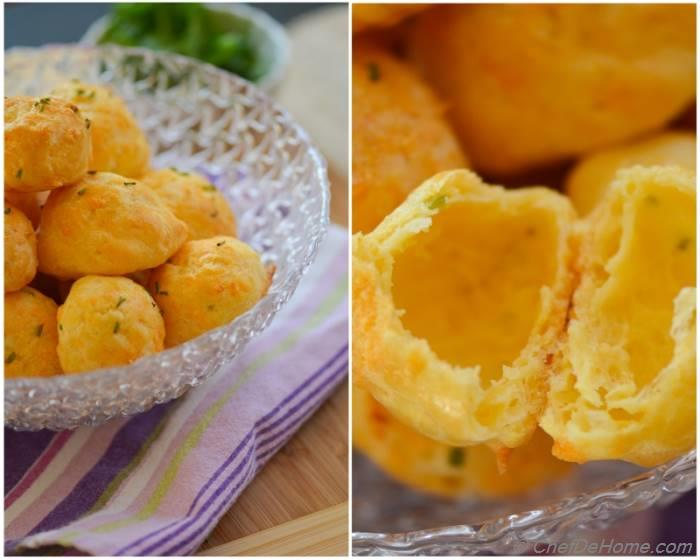 Cheese and Citrus-Chive Gougères