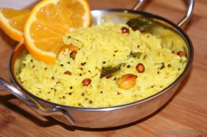 Lemon Rice for Picnic - Recipe