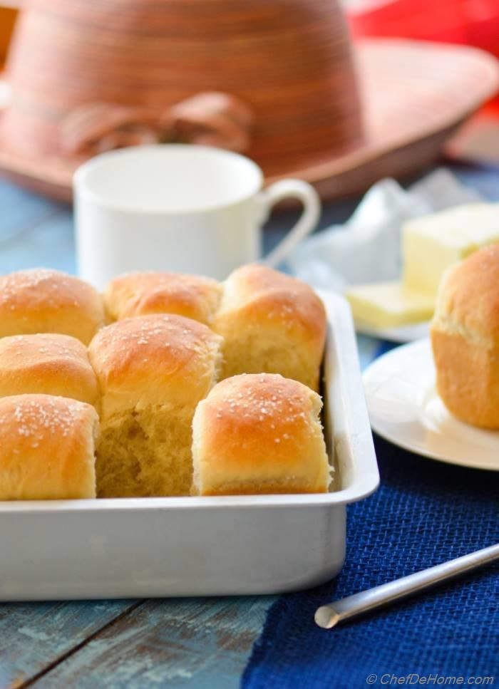 All-American Parker House Rolls. Soak in some soup or curry or enjoy with tea for breakfast!