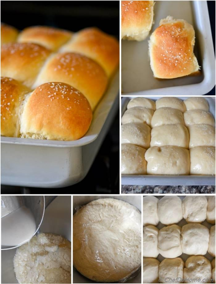Making of buttery, pillow-y, all-American Parker House Rolls at ChefDeHome.com