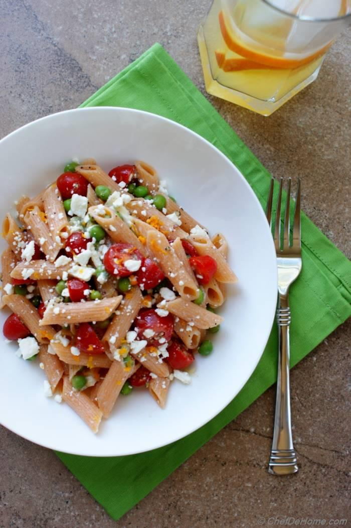 Summer Pasta Salad with Lite Dressing
