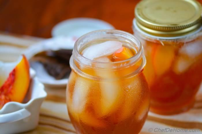 Refreshing Peach Ice Tea