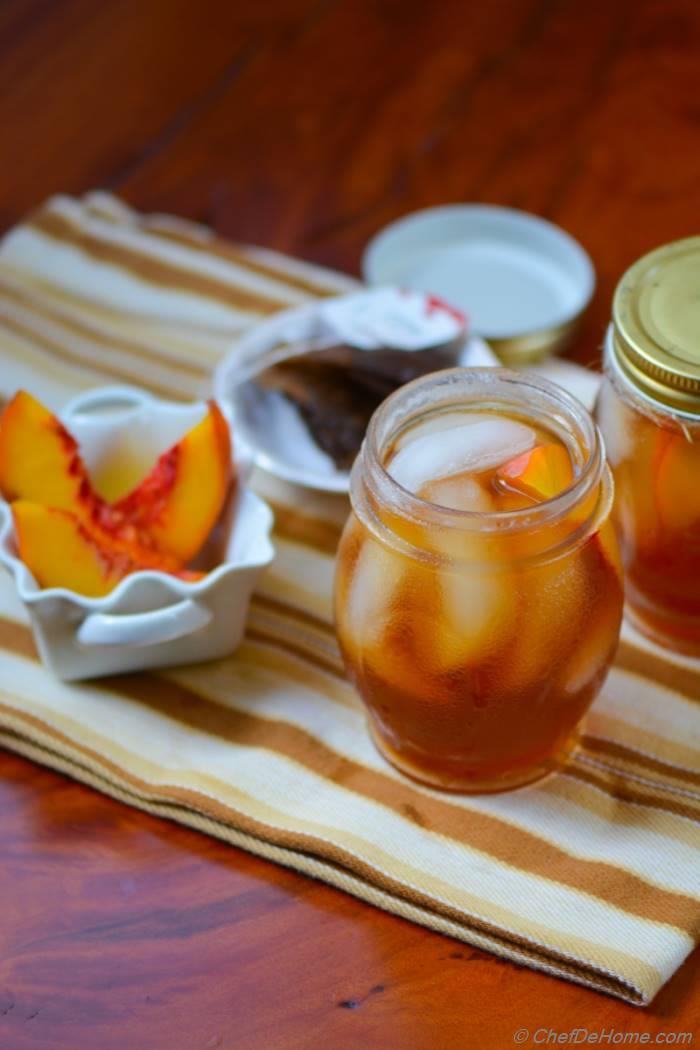 Chilled Peach Ice Tea Recipe
