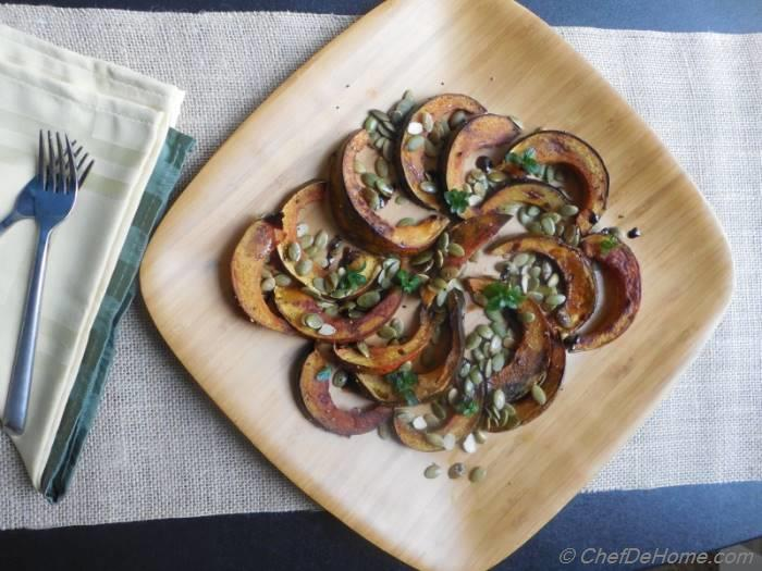 Roasted Acorn Squash with Pumpkin Seeds and Balsamic ...