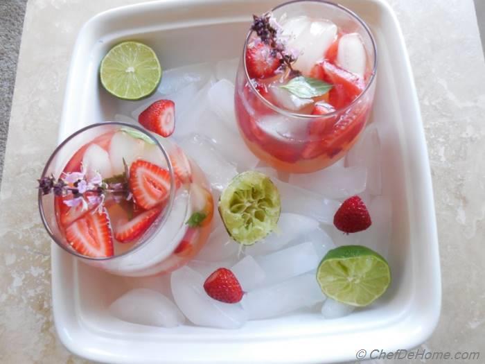 Strawberry Basil Mojito Recipe | ChefDeHome.com