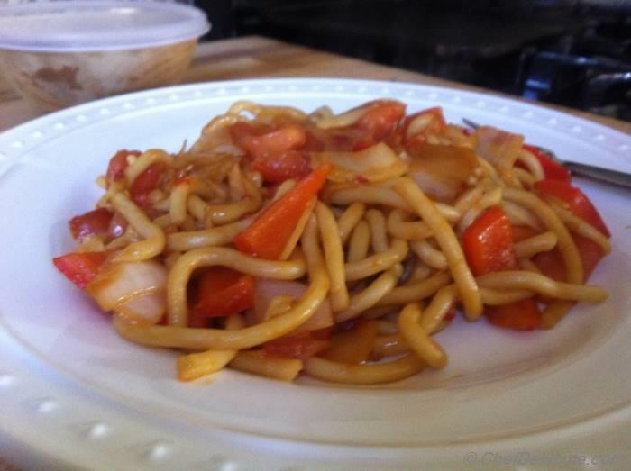 how to make stir fry udon