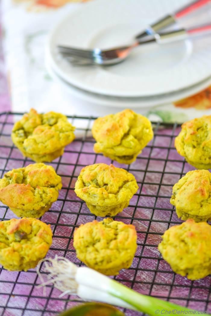 vegan avocado scallion bake sale muffins recipe. Black Bedroom Furniture Sets. Home Design Ideas