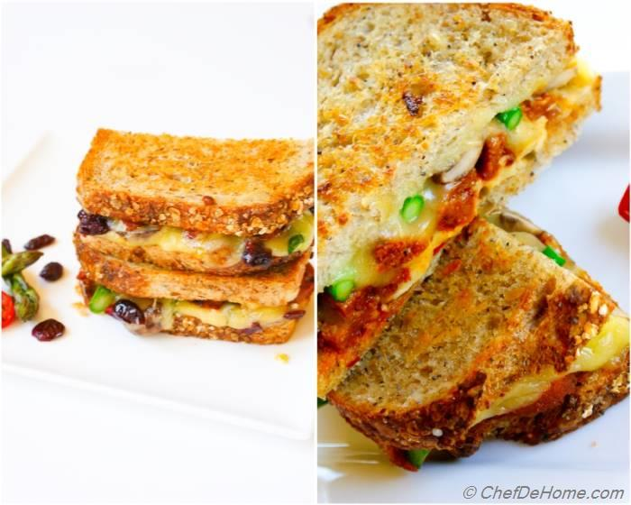 Cranberries, Asparagus and Pickled Jalapeno Grilled Cheese ...