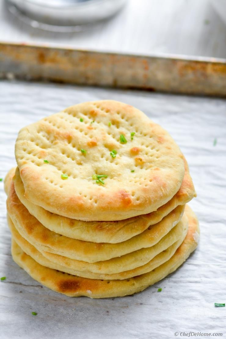 Quick Oven Baked Naan Bread