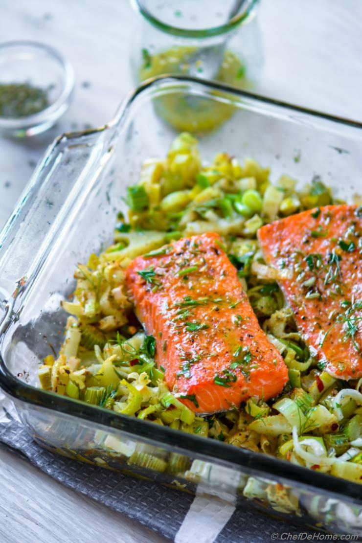Baked Lemon Salmon with Fennel