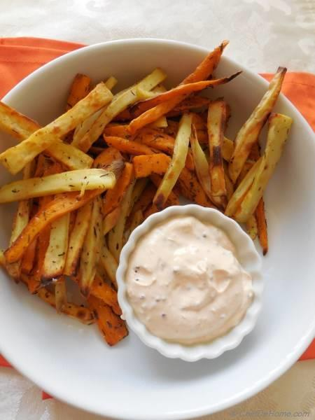 Thyme Dusted Baked Sweet Potato Fries