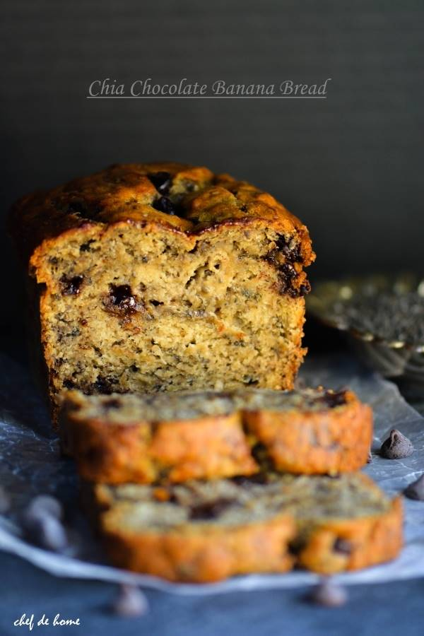 Moist chia chocolate chip banana bread recipe chefdehome moist chia chocolate chip banana bread forumfinder Images