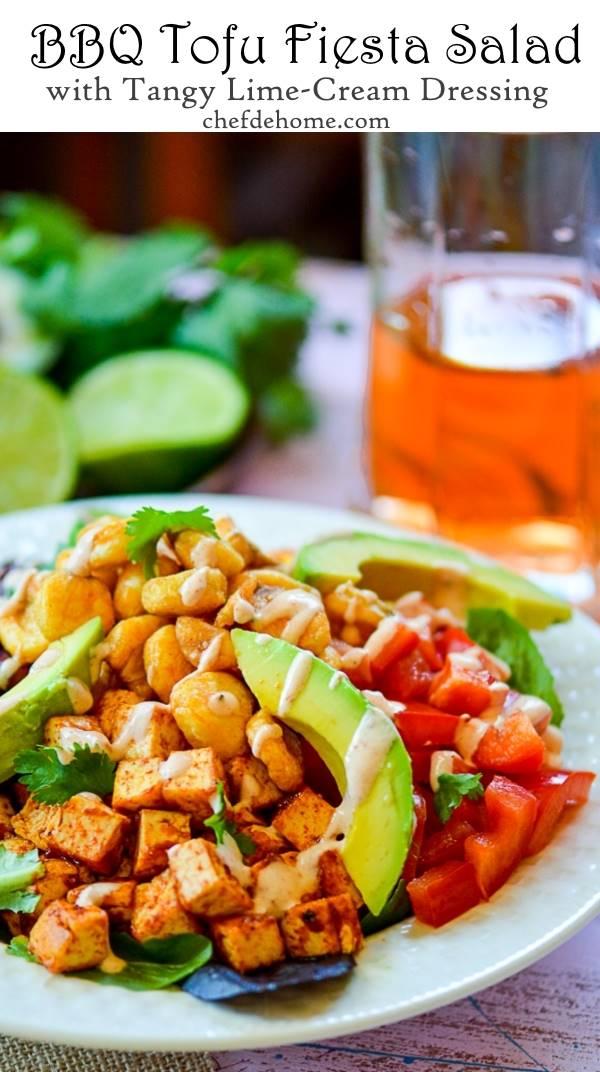 Sharing with you a scrumptious vegetarian tofu salad with tofu ...