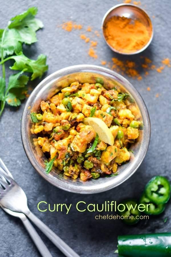Curried cauliflower recipe chefdehome curried cauliflower forumfinder Images