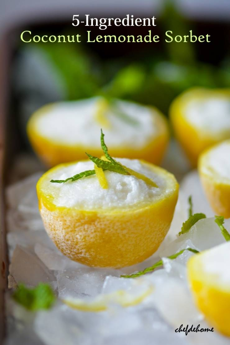 Coconut Lemonade Sorbet
