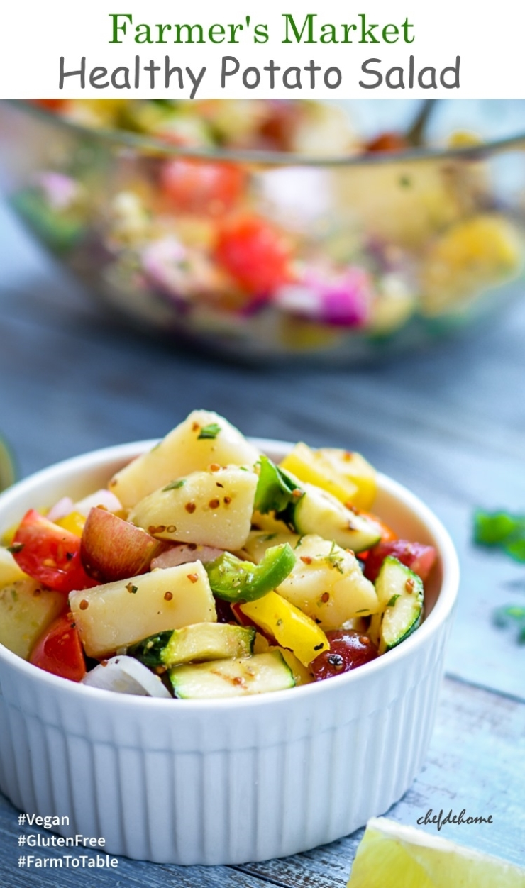 Farmer Market Healthy Potato Salad with Mustard Dressing
