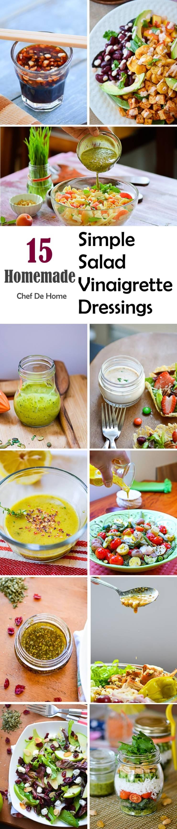 15 Homemade Simple Salad Vinaigrette Dressings