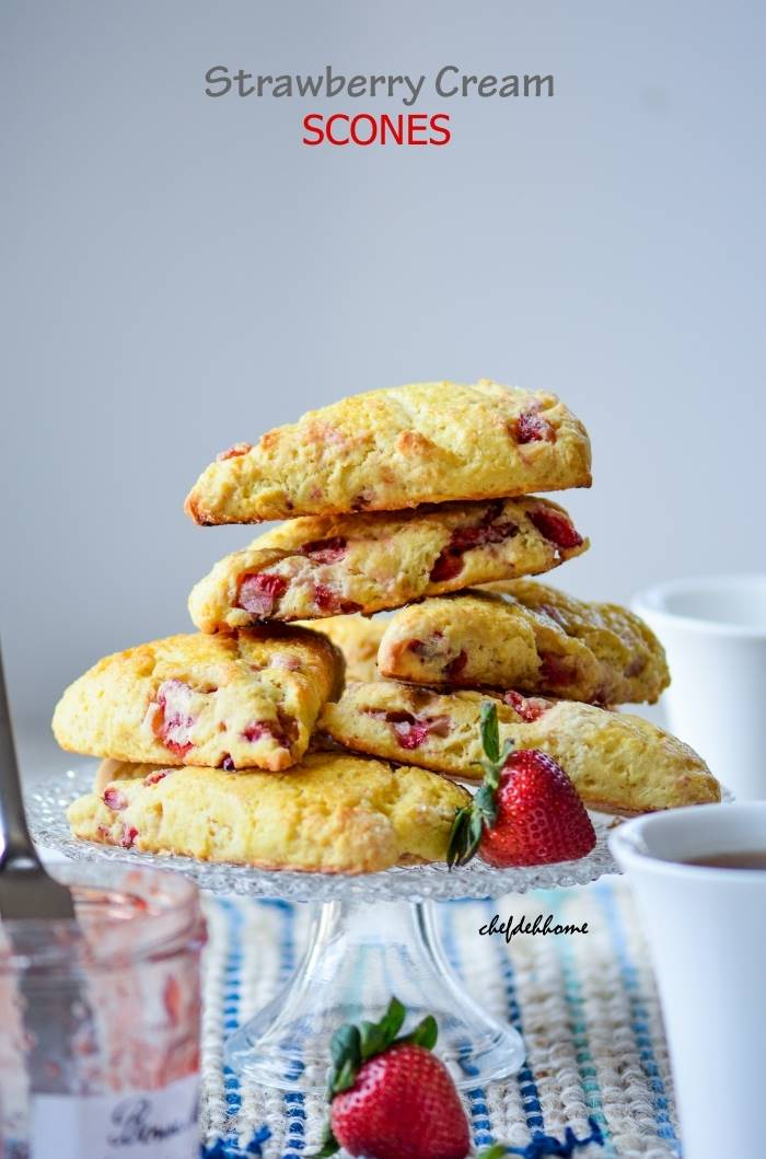 Fresh Strawberry Cream Scones