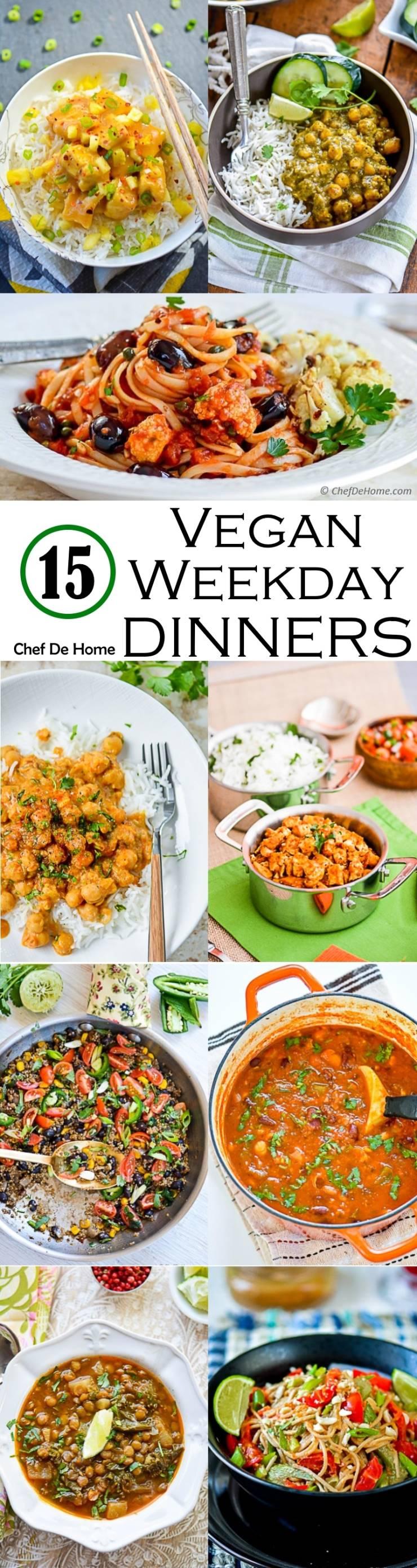 15 Easy Vegan Dinners Ideas for Weekdays