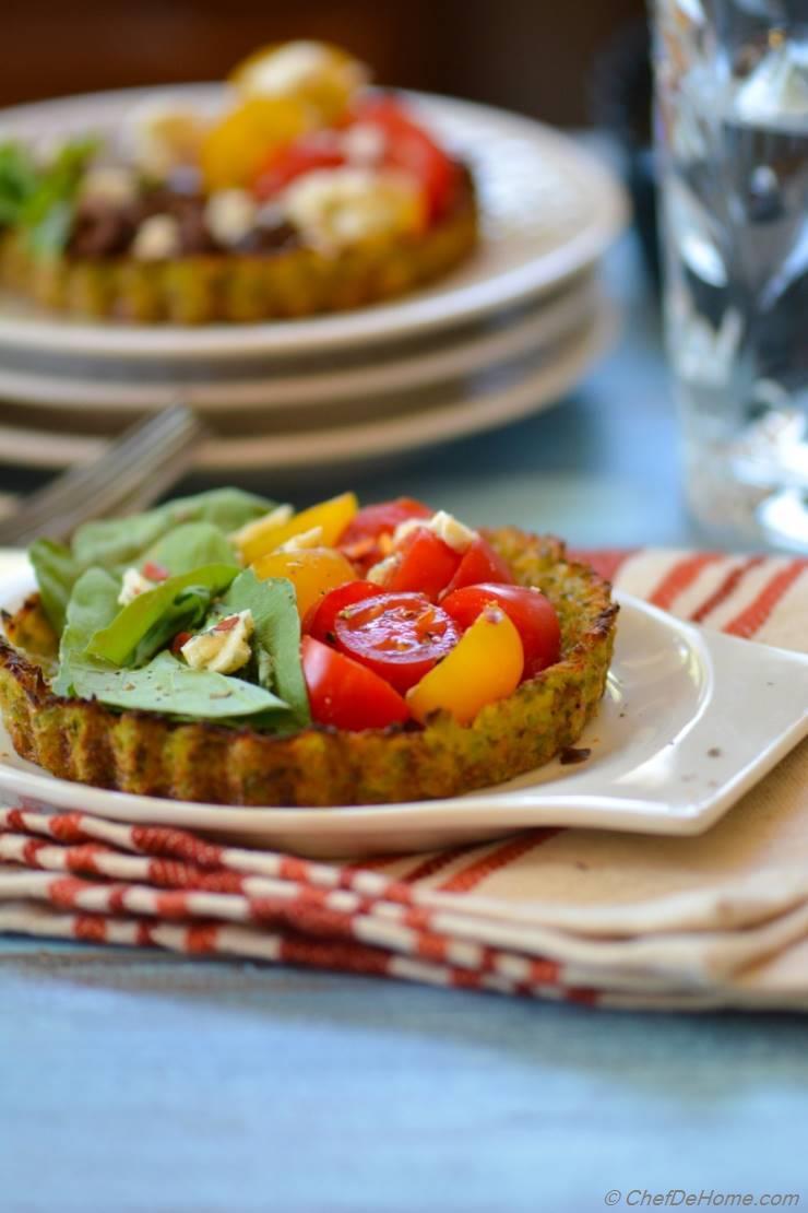 Heirloom Cauliflower Crust Tarts