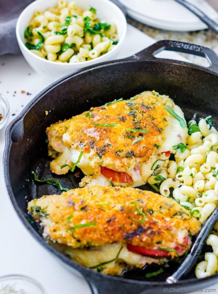 Parmesan Crusted Chicken parmesan crusted chicken caprese recipe | chefdehome