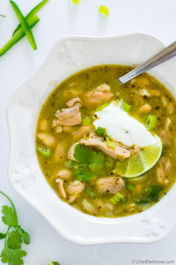 Green Chili Chicken Chili Verde Recipe Chefdehome Com
