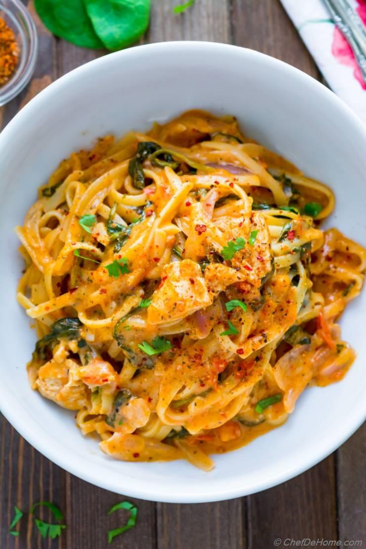 One Pot Cajon Chicken Pasta