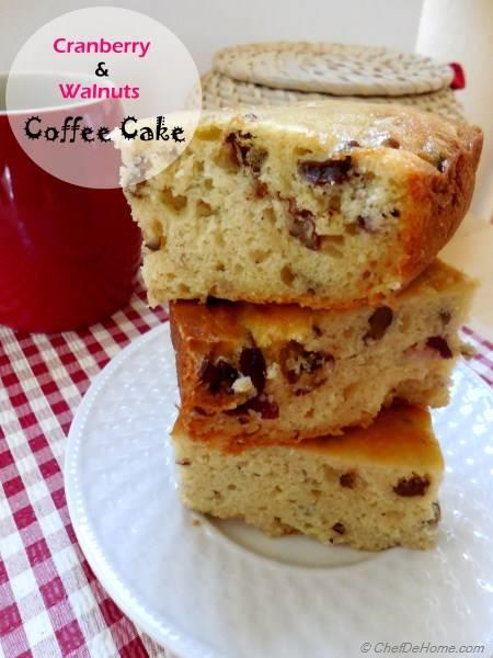 Cranberry-Walnuts Coffee Cake