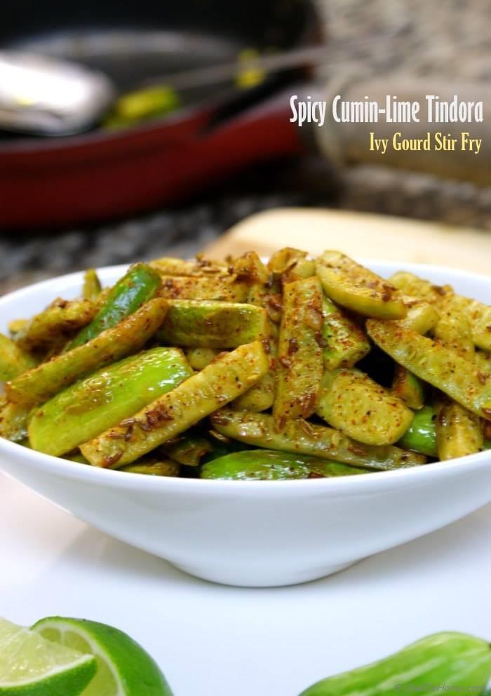 Spicy Crispy Cumin-Lime Tindora