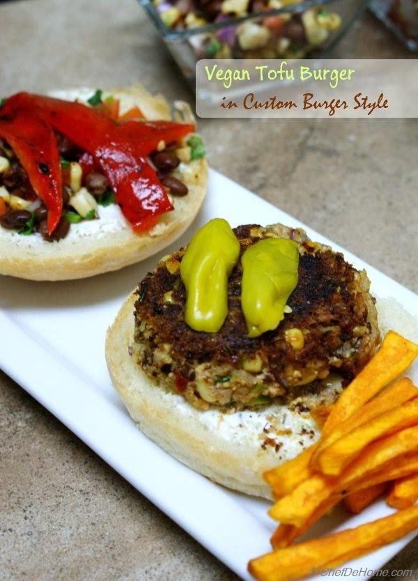 ... , custom built Tofu, Rice and Beans Burger Recipe | ChefDeHome.com