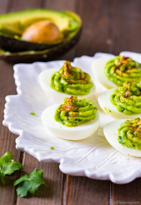 Healthy Deviled Eggs with Avocado Recipe | ChefDeHome.com
