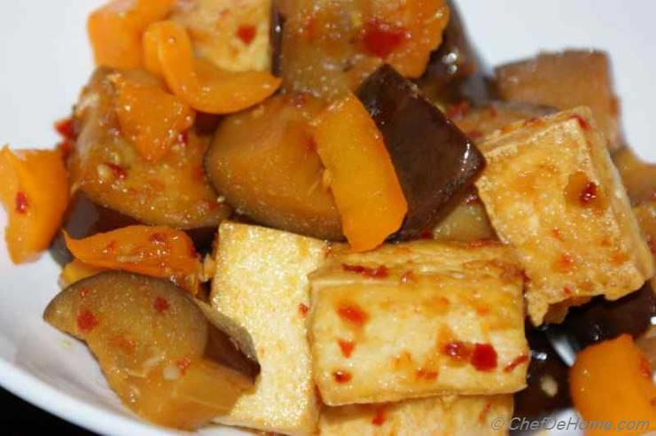 Stir Fried Eggplant and Tofu Recipe