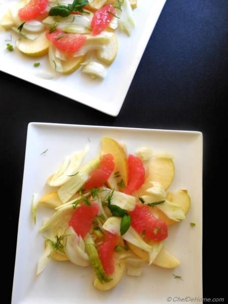 Fennel and Apple Salad with Grapefruit Vinaigrette