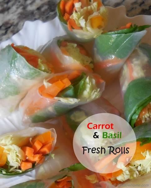 Fresh Carrot and Basil Rolls