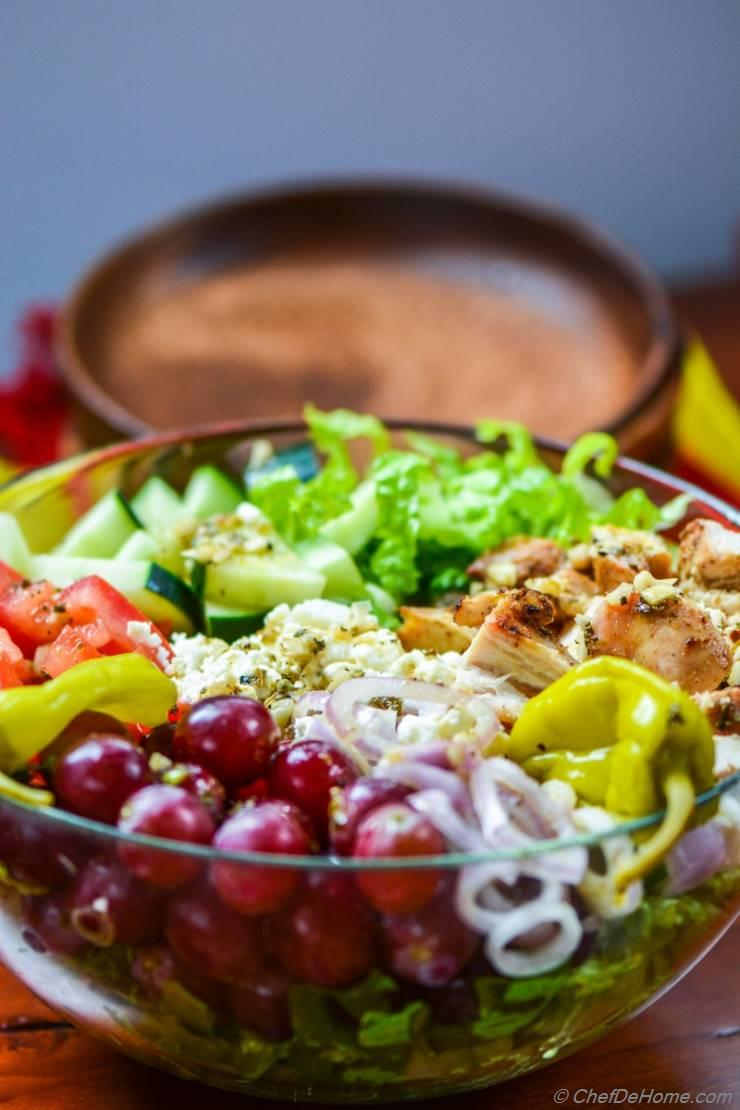 Greek Chicken Chopped Salad