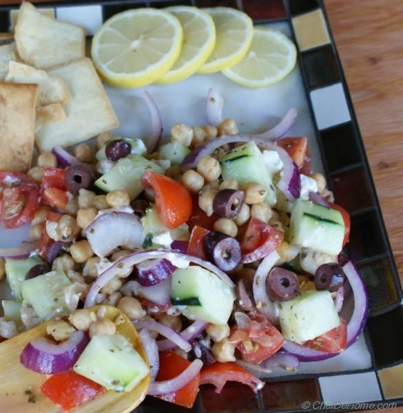 Greek-Style Chickpea and Cucumber Salad