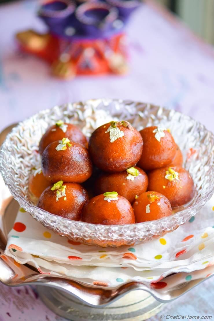 Easy Indian Gulab Jamun with Milk Powder