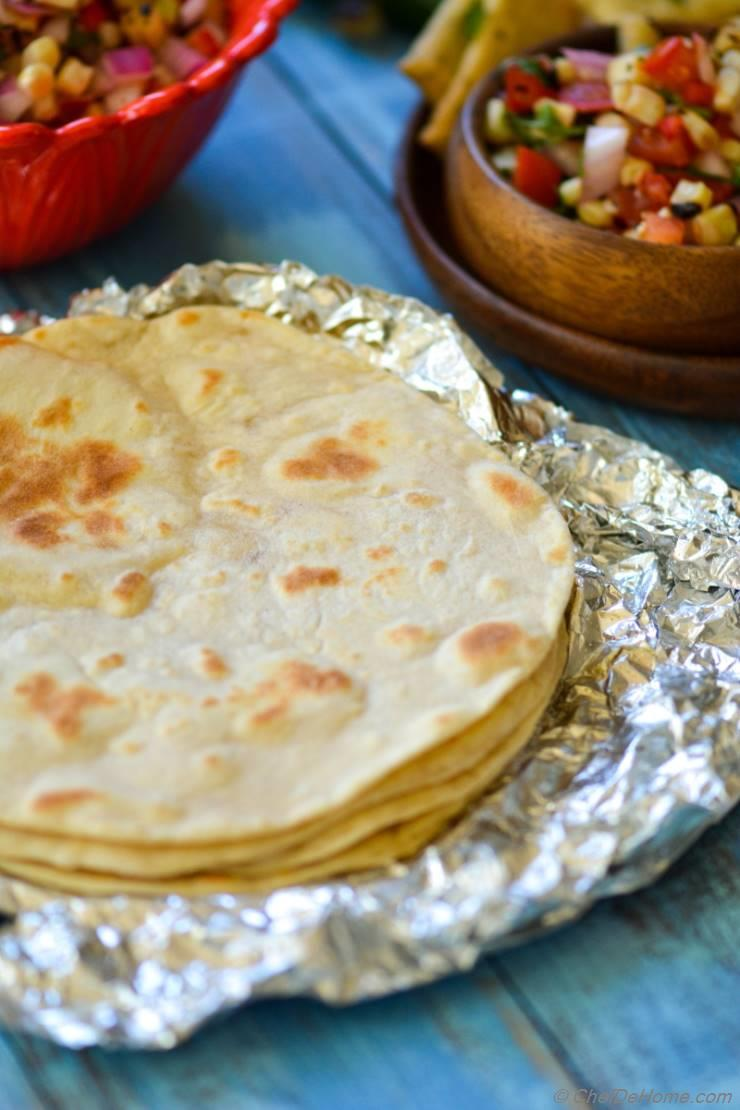 Homemade Flour Tortillas Recipe Chefdehome Com