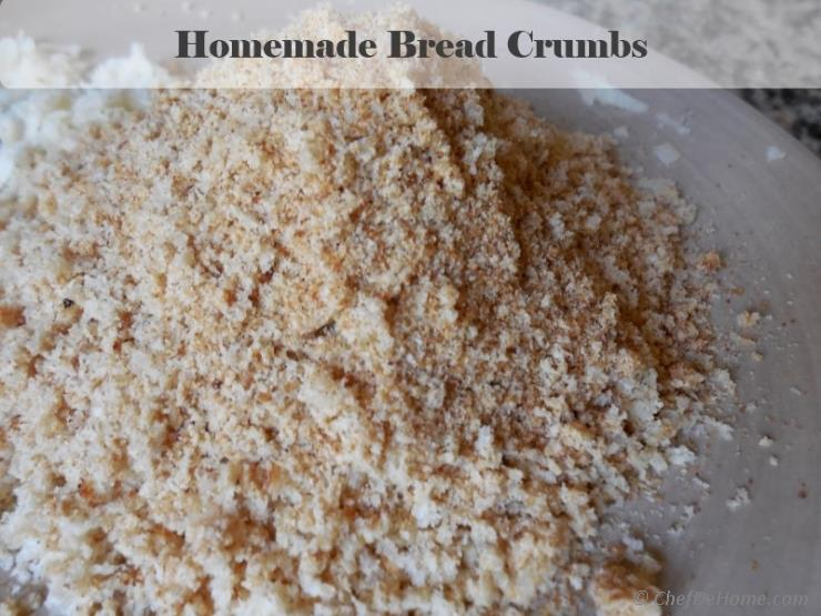 how to make bread crumbs in urdu