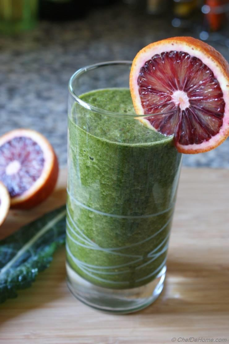 Blood Orange and Kale Cleanse Smoothie
