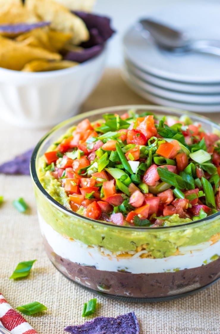 7 Layer Mexican Dip Recipe Chefdehome Com